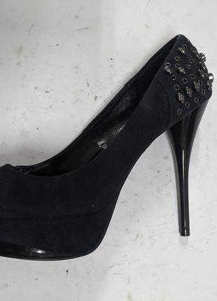 Женские туфли, на высоком каблуке, с черепами, catwalk