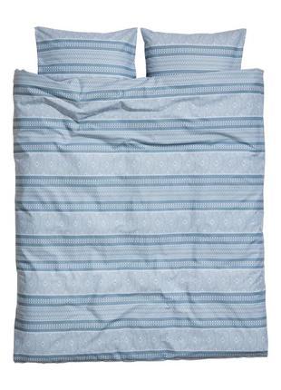 Двуспальное постельное белье с рисунком 200х200 80х80 h&m оригинал европа швеция