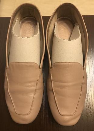 Туфли балетки кожаные