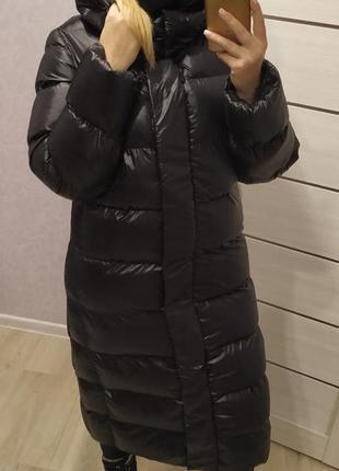 Зимний теплющий непродуваемый пуховик на холофайбере