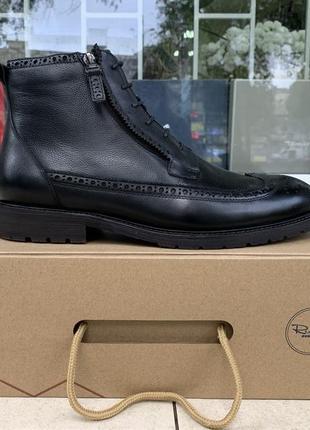 Мужские зимние ботинки respect натуральная кожа цигейка