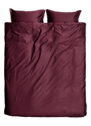 Премиум двуспальное постельное белье атлас 200х200 80х80 h&m оригинал европа швеция
