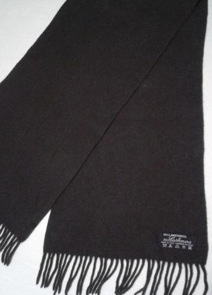 Теплый шерстяной классический мужской шарф тканый шалик4 фото