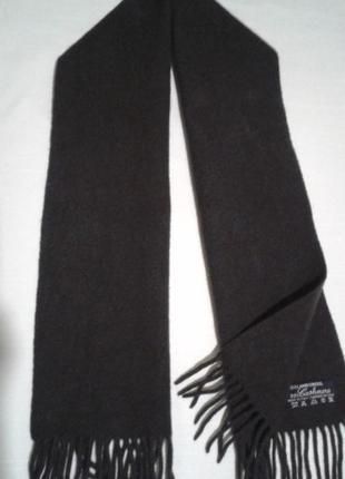 Теплый шерстяной классический мужской шарф тканый шалик