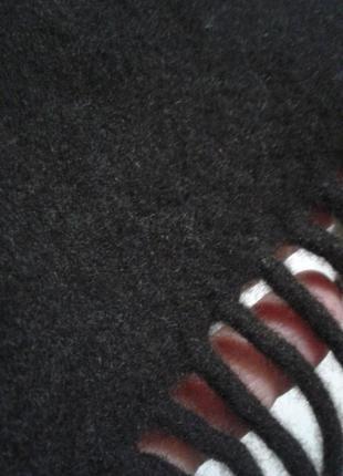 Теплый шерстяной классический мужской шарф тканый шалик2 фото