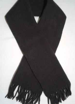 Теплый шерстяной классический мужской шарф тканый шалик3 фото