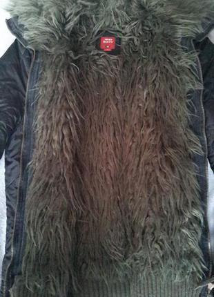 Куртка зимняя miss syxty оригинал c искуственным мехом, размер m-l