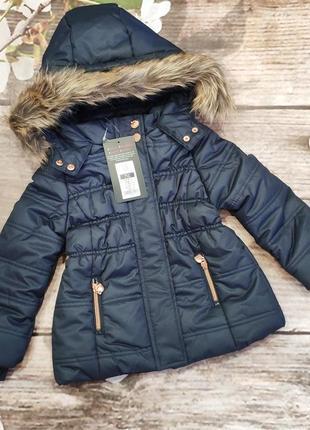 Классная зимняя курточка cool club на девочку рост 98