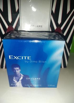 Продам мужскую туалетную воду exite by dima bilan от бренда oriflame