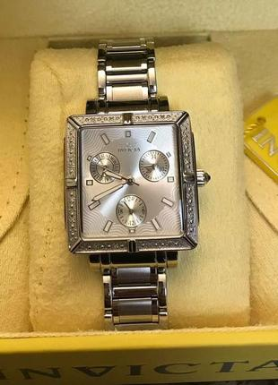 Швейцарские часы invicta с бриллиантами 0,03с. оригинал.