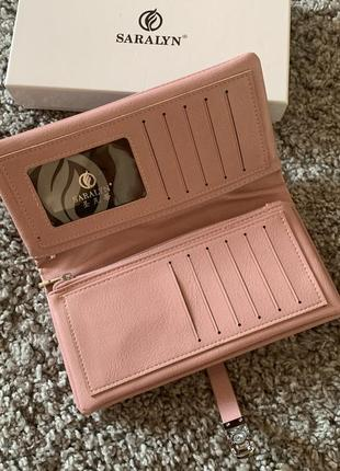 Женский кошелёк, дамский портмоне, большой женский кошелёк