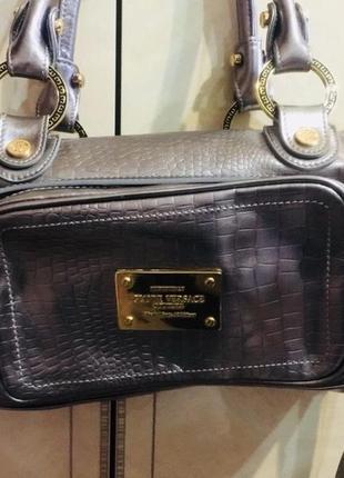 Шикарная сумка саквояж 👜 d.v винтаж 🇮🇹