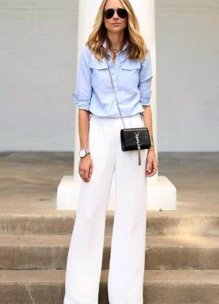 Стильные белые льняные прямые брюки палаццо,tiger of sweden, xs-s/34