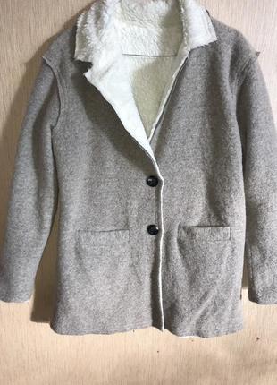 Шерстяной кардиган- пиджак