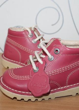 Кожаные ботинки kickers франция