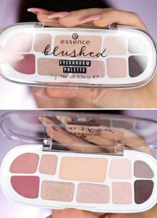 Палетка теней и румян essence blushed eyeshadow palette