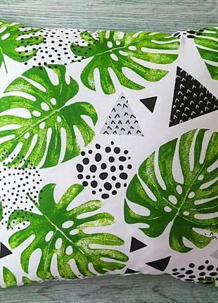 Подушка листя монстери,  35 см * 35 см