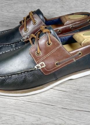 Maine 41p туфли мужские топсайдеры кожа англия