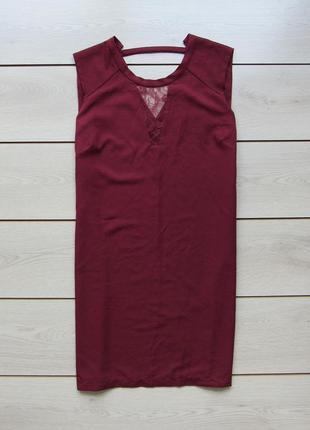№14 платье с ажурной вставкой цвета марсала от saint tropez