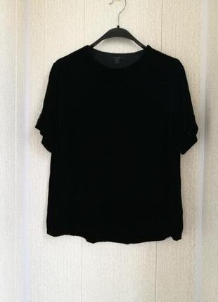 Велюровая блуза из вискозы и шелка cos