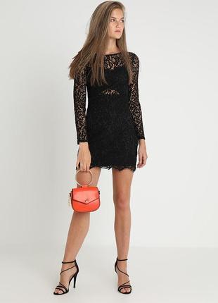 Маленьке чорне плаття even & odd кружевне платье кружевное по фигуре