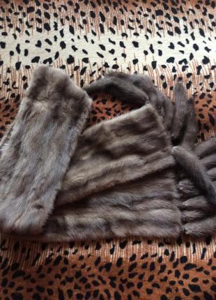 Норковая шаль,шарф,натуральная норка