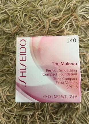 Оригинал shiseido perfect smoothing spf15 компактный тональный крем-пудра