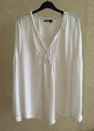 Белая блуза из вискозы marc aurel