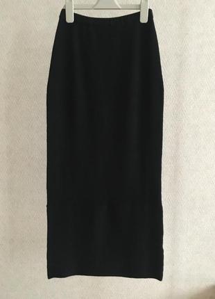 Длинная трикотажная юбка alba moda
