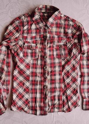 Рубашка сорочка клетка dunnes 38 m