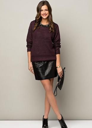 Акция 2=3. чёрная прямая эко кожа мини юбка. есть размеры. новая с биркой.