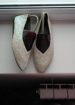Дизайнерские туфли,designer line,с паетками