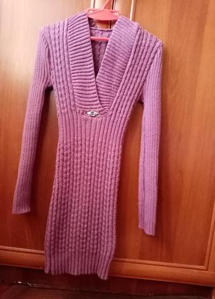 Вязаные платье