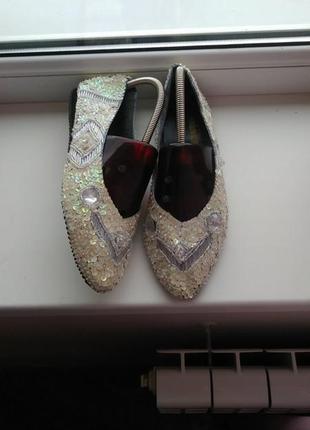 Красивенные,дизайнерские туфли,designer line,с паетками