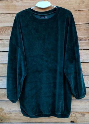 Кофта, свитшот, удлиненная кофта, бархатная кофта, свитер, джемпер