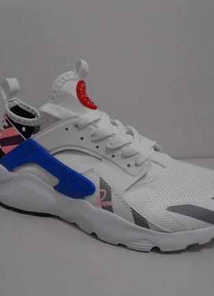 Nike huarache white-blue-grey