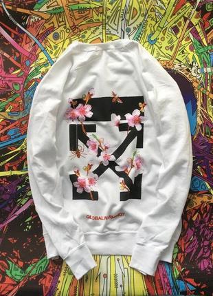 Свитшот off white spring  • ориг бирки • топ качество