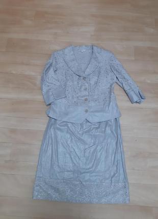 Костюм юбка+ пиджак/ жакет elita