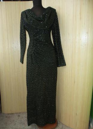 Шиканое вечернее платье травка susan bristol  m-l