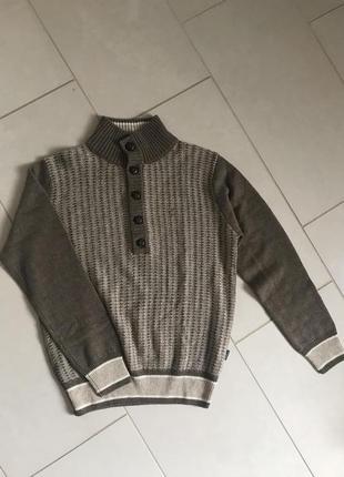 Пуловер шерстяной мужской стильный дорогой бре нд daniel hechter размер s/m