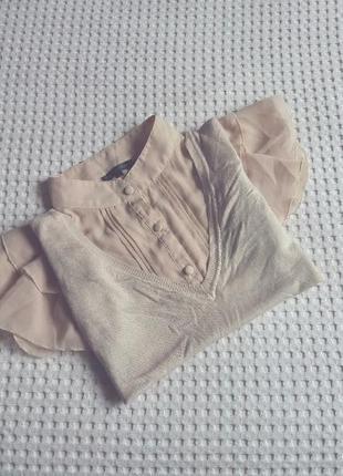 Винтажная блуза с жилеткой винтаж блузка