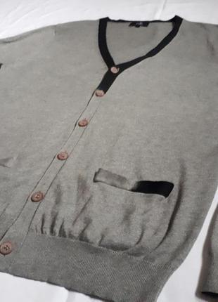 Мужской стильный пуловер (коттон+шелк) avant premiere( размер м)