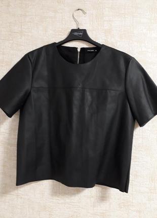 Актуальная кожаная блуза..кофта..