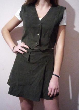 Костюм daniel ricci/ комплект юбка+жилетка/ классический/ форма