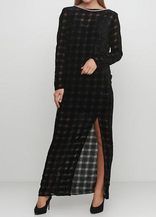 Андре тан. шикарное шёлковое вечернее платье с открытой спинкой.
