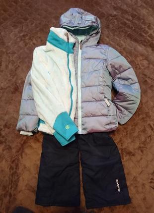 Зимняя куртка комбинезон флиска champion 6-7 лет