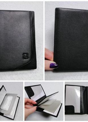 Обложка для документов . цвет: чёрный материал: натур. кожа 10х14 в
