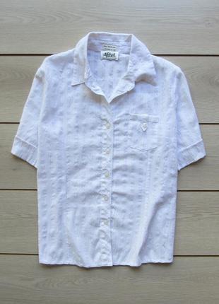 Акция на лето №136 фактурная рубашка футболка с коротким рукавом хлопок