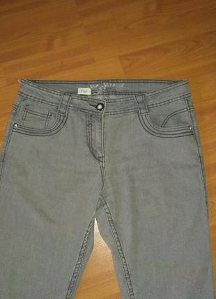 Женские серые джинсы скинни f&f