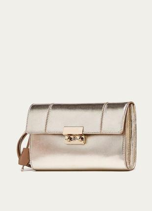 Кожаная сумка клатч портмоне из натуральной кожи massimo dutti
